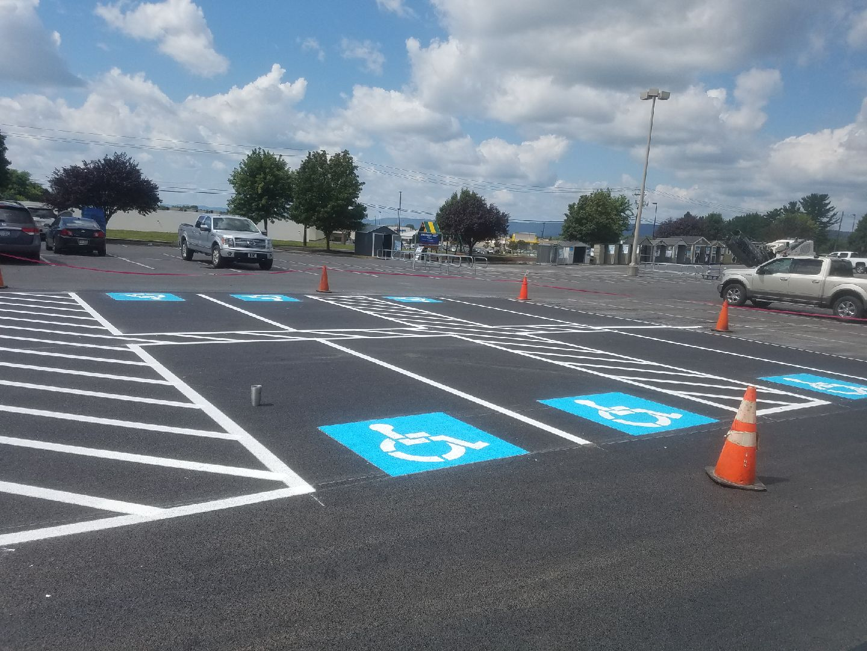 handicapped spaces - parking signage - ADA Compliance - Quick Lot