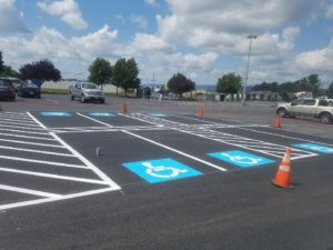 handicapped spaces - parking signage - ADA Compliance - Quick Lot