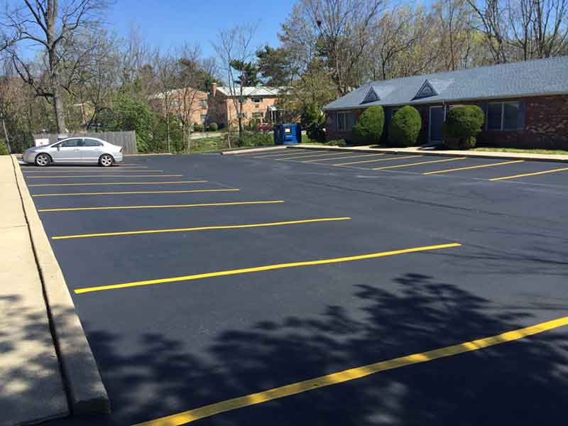 restriping a parking lot - parking lot striping - Quick Lot